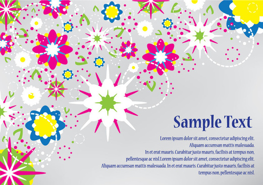 abstract flowers design vector card