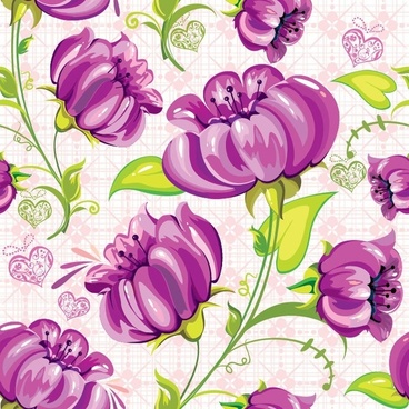 Abstract Flowers Seamless Background Vector
