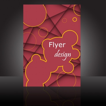 abstract flyer sketch geometric manner decorative circles