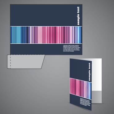 abstract folder cover design vector set