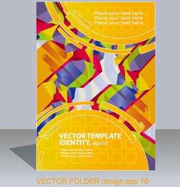 abstract folder design vector background