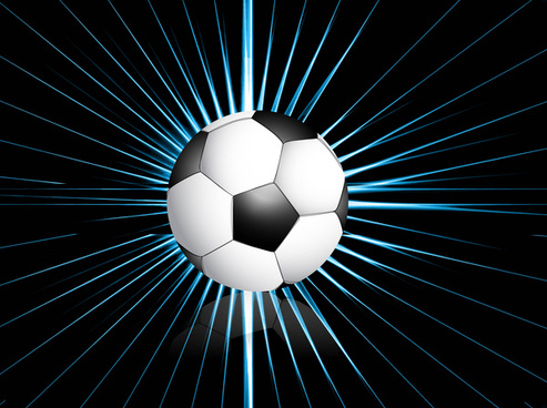 abstract football bright black blue colorful rays swirl vector