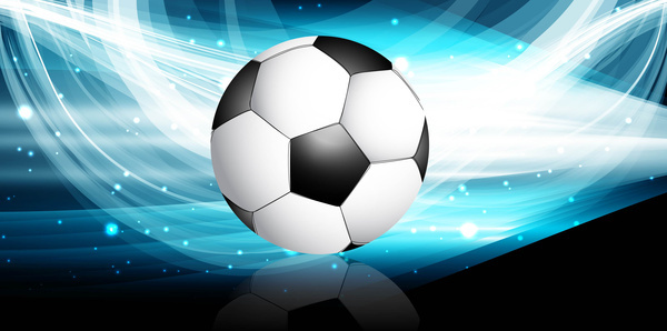 abstract football bright black blue colorful wave vector