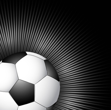abstract football bright black colorful swirl vector design