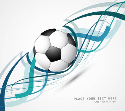 abstract football colorful line wave vector design