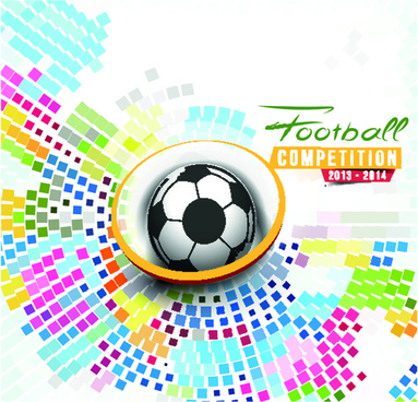 abstract football elements background vector