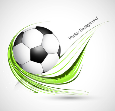 abstract football green colorful wave vector whit