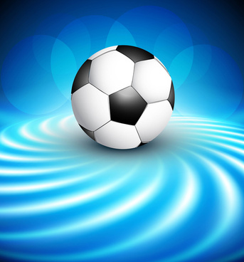 abstract football reflection blue colorful wave design illustration