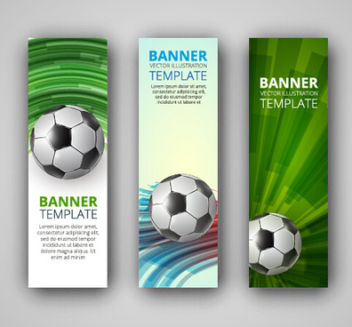 abstract football vector banner graphic