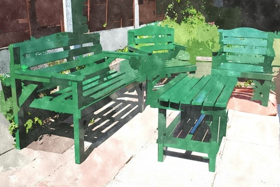 abstract garden furniture