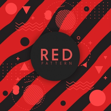 abstract geometric background red black curves circle decoration