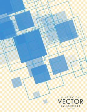 abstract geometric background transparent squares sketch