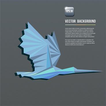 abstract geometric bird background
