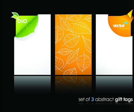 abstract gift tags cards design vector graphic