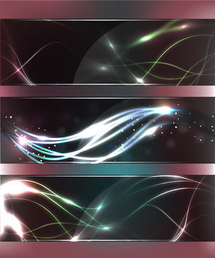 abstract glass banners