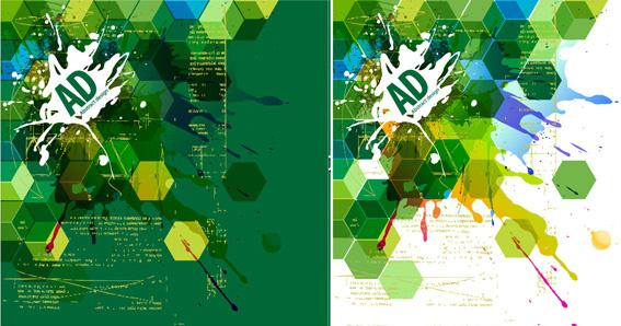Abstract green background design elements