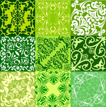 abstract green background templates classical symmetric decor