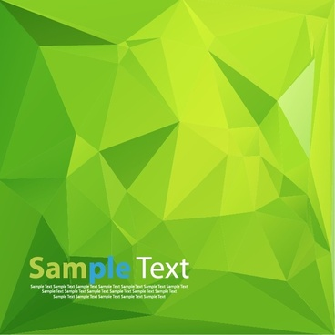 abstract green background with triangles vector illustration