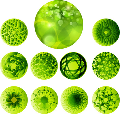 abstract green ball design collections