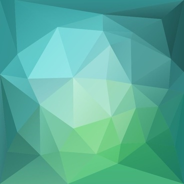 abstract green blue low poly background vector illustration