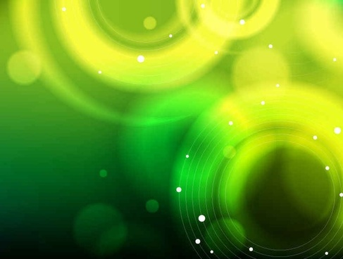 Abstract Green Bokeh Background