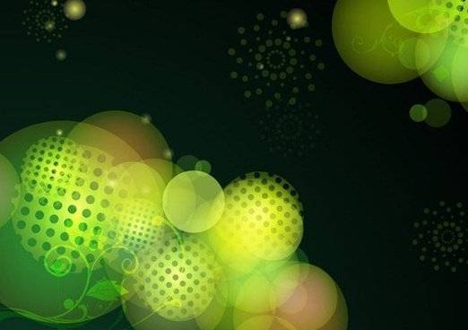 Abstract Green Bokeh Design Vector Background