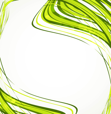 abstract green business technologie wire wave white background