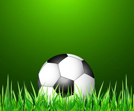 abstract green grass color football vector