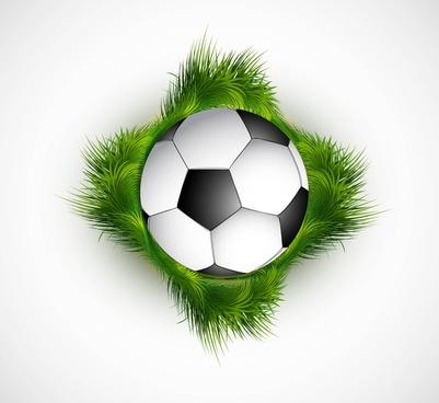 abstract green grass colorfull football vector design