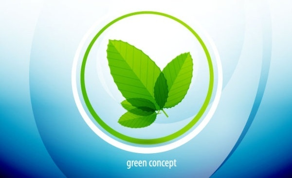 abstract green leaf background 02 vector