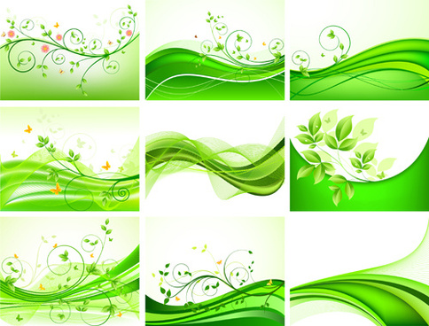 abstract green leaves background design vector