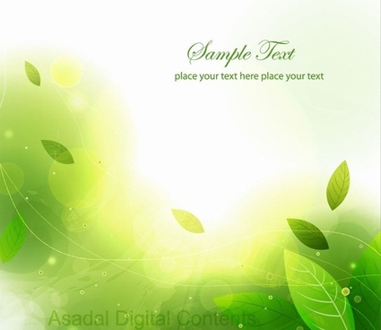 abstract green leaves vector background