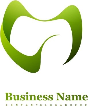 abstract green m business icon element vector illustration