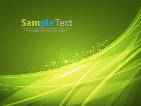 abstract green background sparkling curves decoration