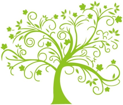 abstract green tree vector illustration