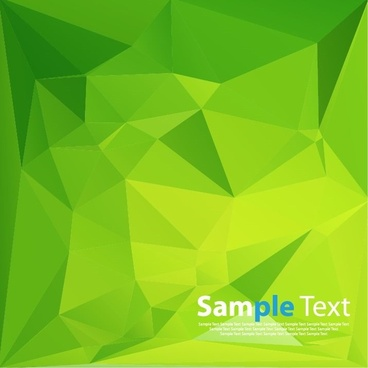 abstract green triangle geometry vector illustration