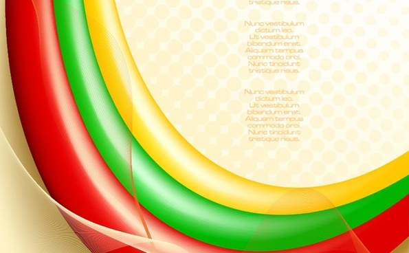 colorful bright curves background red yellow green ornament