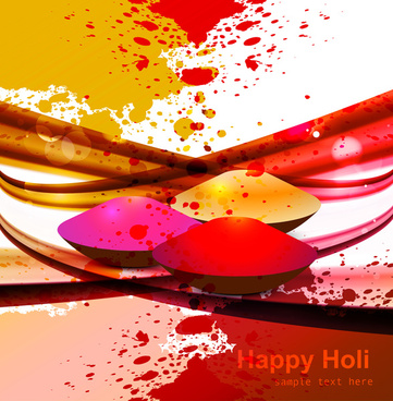abstract gulal background for holi colorful wave festival background