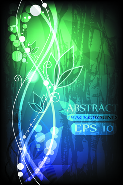 abstract halation flowers backgrounds vector 4