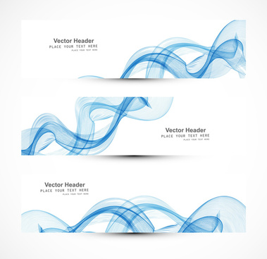 abstract header blue wire line wave whit vector design