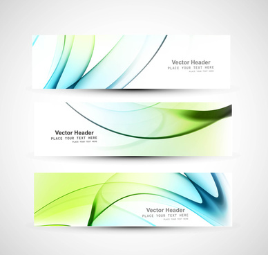 abstract header colorful shiny wave vector design