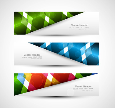 abstract header colorful vector illustration