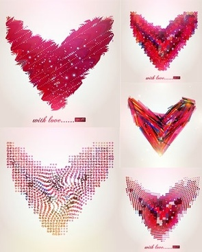 abstract heart-shaped pattern vector