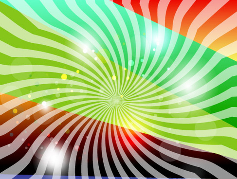 abstract hunderd line colored vector