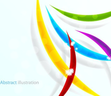 abstract background sparkling colorful lines ornament