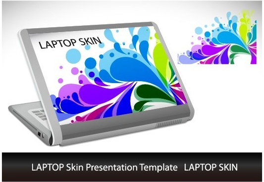abstract laptop sticker vector