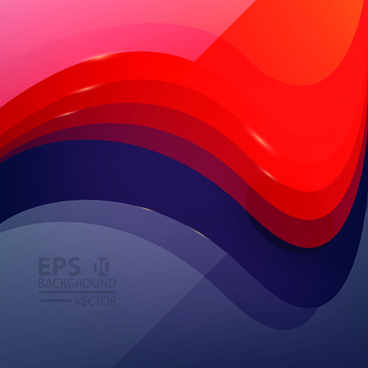 abstract layers wave vector background art