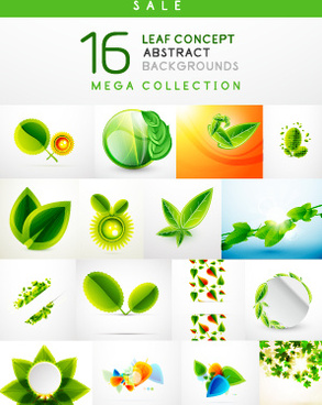 abstract leaf concept background vector