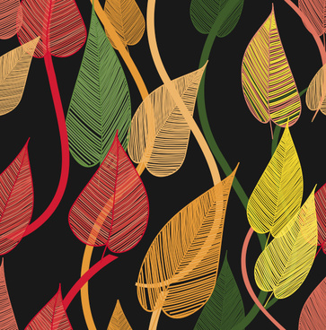 abstract leaf elements vector