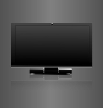 abstract led tv blank screen realistic reflection vector design